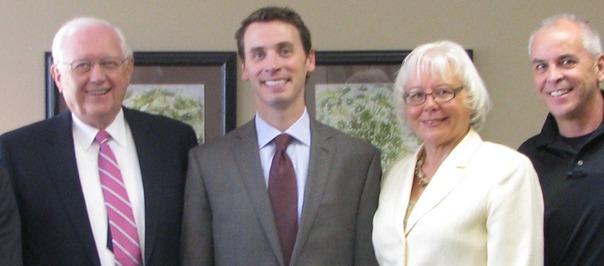 L-R Jim Rhode;Congressman Quayle; Leona Meditz;Chris Lombardo